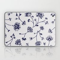 Indigo Floral Trail (reversed) Laptop & iPad Skin