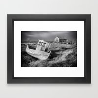 The Boat And Coal Shed, … Framed Art Print
