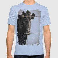 How Now, Brown Cow? Mens Fitted Tee Athletic Blue SMALL
