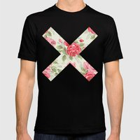 X Floral | X Mens Fitted Tee Black SMALL
