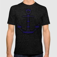 Sam's Anchor Ss T-Shirt  Mens Fitted Tee Tri-Black SMALL
