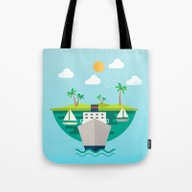 Shipping In The World Tote Bag