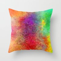 Aa 2 Colourful Digital A… Throw Pillow