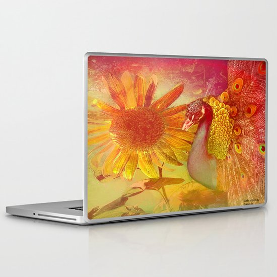 :: Sunflower and Ruebin the Royal Peacock :: by Gale storm and Joe Ganech Laptop & iPad Skin