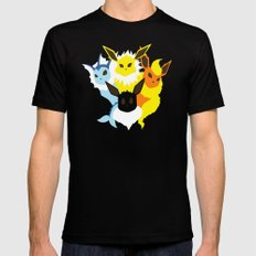 Pocket monster 133 to 136 Black SMALL Mens Fitted Tee