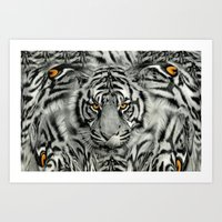 TIGER PAW-TRAIT Art Print