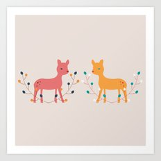 deer fun Art Print