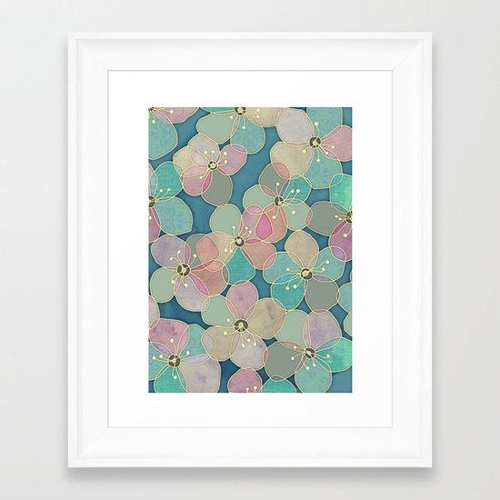 It's Always Summer Somewhere 2 - translucent poppy doodle Framed Art Print