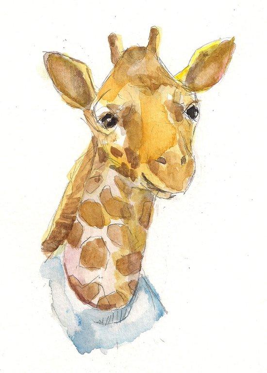Giraffe baby Art Print