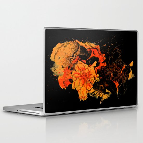 Pollination Dark Fire Laptop & iPad Skin