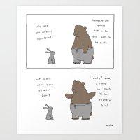 Sweatpants  Art Print