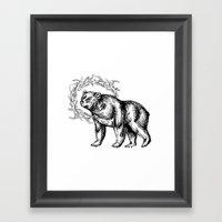 Bear Queen Framed Art Print