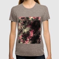 Abstract 33  Womens Fitted Tee Tri-Coffee SMALL
