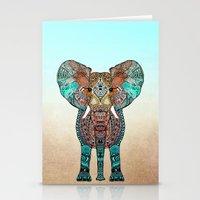 orange Stationery Cards featuring ElePHANT by Monika Strigel