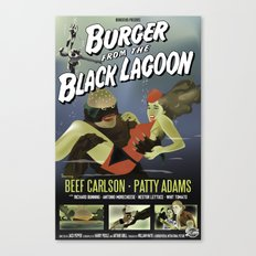 Burger From the Black Lagoon Canvas Print