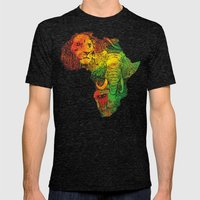 Africa Mens Fitted Tee Tri-Black SMALL