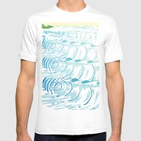 BIG WAVE Mens Fitted Tee White SMALL