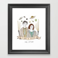 Mulder and Scully 4Ever Framed Art Print