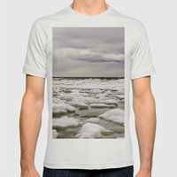 Ice Water Mens Fitted Tee Silver SMALL