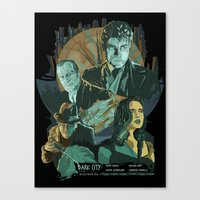 Dark City Poster Canvas Print