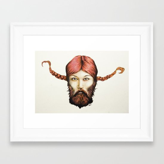 Wendy, The Bearded Lady Framed Art Print