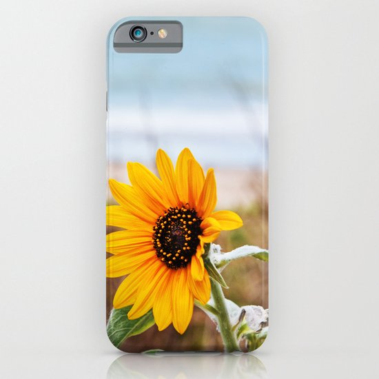 Sunflower near ocean iPhone & iPod Case