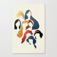 Royal Hair Canvas Print