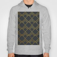 Diamond Art Deco; - Black & Gold  Hoody