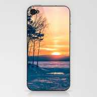 Winter Sunset And The Su… iPhone & iPod Skin