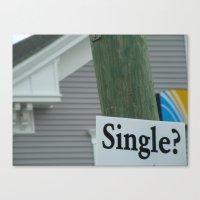 Street Single. Canvas Print