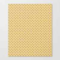Yellow And Orchid Polka … Canvas Print