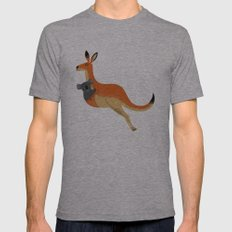 The Kangaroo and The Koala Mens Fitted Tee Athletic Grey SMALL
