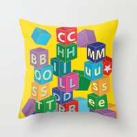 Boston Childrens Museum Throw Pillow