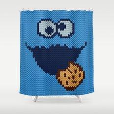 monster 'nom nom' knit Shower Curtain