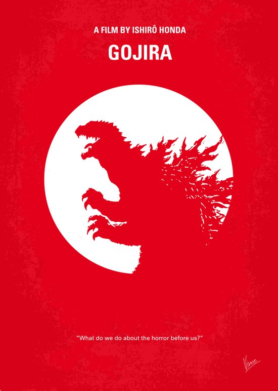No029-1 My Godzilla 1954 minimal movie poster Art Print