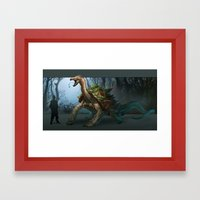 -Great White Carnotortoise- Framed Art Print