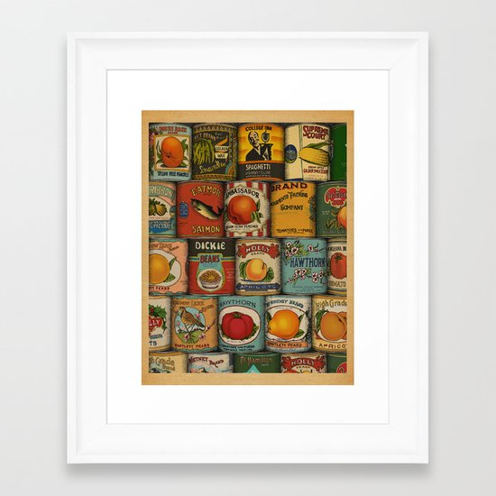 Canned in the USA Framed Art Print