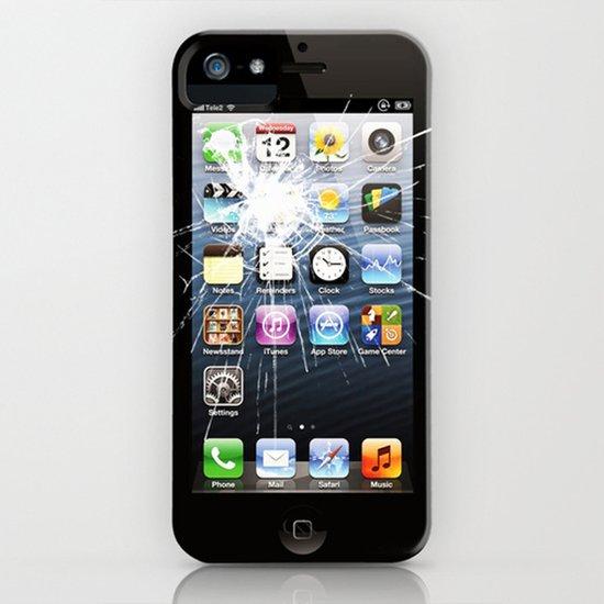 iPhone5 Broken (follow link below for iPhone4) Art Print