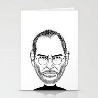 STEVE JOBS PORTRAIT Stationery Cards
