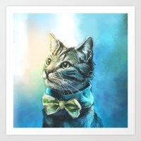Handsome Cat Art Print