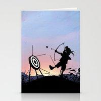 Hawkeye Kid Stationery Cards
