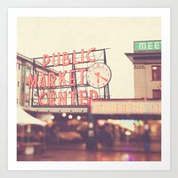 6:20. Seattle Pike Place… Art Print