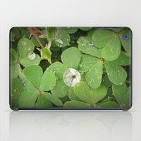 Rain on leaves iPad Case