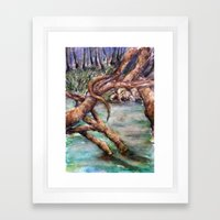 Moat Framed Art Print
