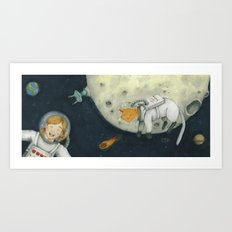 Let's play astronauts! Art Print