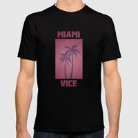 Miami Vice Mens Fitted Tee Black SMALL