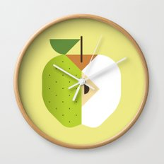 Fruit: Apple Golden Delicious Wall Clock