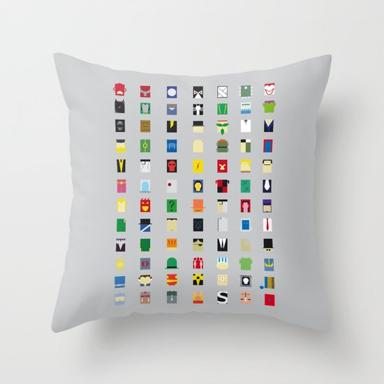 Minimalism Villains Throw Pillow
