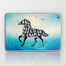 The Scorpio Races quote design Laptop & iPad Skin