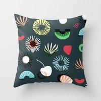 Seaflower Throw Pillow
